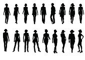 The Human Body,Women,Silhouette,Fashion,Shape,People,Slim,Vector,Elegance,Clothing,Beautiful,Isolated,Modern Life,Theatre,People,Concepts And Ideas,White Background,Stage Show,Arts And Entertainment
