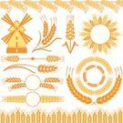 Wheat,Cereal Plant,Corn On The Cob,Agriculture,Crop,Symbol,Windmill,Mill,Barley,Vector,Corn - Crop,Frame,Ilustration,Pattern,Design Element,Seed,Rural Scene,Computer Graphic,Design,Floral Pattern,Ornate,Decoration,Plant,Image,Posing,Set,Single Object,Nature,Creativity,Variation,Yellow,Shape,Summer,At The Edge Of,Paintings,Curve,Style,Food And Drink,Illustrations And Vector Art,Ripe,Grain And Cereal Products,Nature,Plants,Vector Florals
