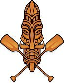 Oar,Tiki,Rowing,Mask,Sport Rowing,Indigenous Culture,Wood - Material,Community,Tropical Climate,Tropical Music,Primitivism,Wood Grain,Tiki God,Sports Symbols/Metaphors,Illustrations And Vector Art,Sports And Fitness,Objects/Equipment