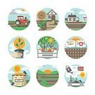 Freshness,Tractor,Agriculture,Farm,Harvesting,Equipment,Irrigation Equipment,Sun Jihai,Illustration,Nature,Computer Icon,Organic Farm,Cultivated,Organic,Sunflower,Vector