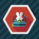 Celebration,No People,Computer Graphics,Background,Sign,Animal,Cute,Illustration,Easter,Computer Graphic,Basket,Backgrounds,Vector,Multi Colored