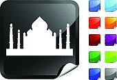 Taj Mahal,India,Palace,Symbol,Computer Icon,Vector,Computer Graphic,Label,Black Color,Built Structure,Blue,Design,Shiny,Architecture,Digitally Generated Image,Green Color,Purple,Building Exterior,Ilustration,Red,White Background