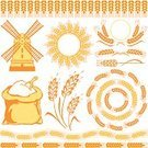 Wheat,Flour,Cereal Plant,Windmill,Mill,Corn - Crop,Barley,Symbol,Sack,Corn On The Cob,Vector,Frame,Crop,Agriculture,Ilustration,Pattern,Rural Scene,Decoration,Computer Graphic,Shape,Seed,Summer,Circle,Ornate,Plant,Single Object,Nature,Variation,Image,At The Edge Of,Posing,Style,Paintings,Meal,Set,Yellow,Creativity,Ripe,Curve,Grain And Cereal Products,Vector Florals,Design Element,Food And Drink,Illustrations And Vector Art,Vector Cartoons