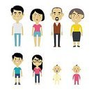 Child,Baby,Senior Adult,Adult,Mature Adult,Kinds,Togetherness,Asian and Indian Ethnicities,Females,Boys,Men,Women,Males,Group Of People,Grandmother,Love,Mother,Illustration,Son,People,Infographic,Family,Grandchild,Happiness,Cultures,Flat,Portrait,Daughter,Large,Grandfather,Large,Grandparent,Father,Vector,Multi-Generation Family,Smiling