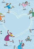 Child,Frame,Copy Space,Cold Temperature,Romance,Ice Rink,Background,Offspring,Message,Love,Holiday - Event,Greeting Card,Valentine's Day - Holiday,New Year's Eve,Christmas,Cartoon,Gliding,Illustration,People,Shape,Sliding,Blank,Valentine Card,Sport,Joy,Hobbies,Winter,Heart Shape,Clip Art,New Year,Season,Backgrounds,Figure Skating,Winter Sport,Holiday,Fun,Vector,Ice-skating,Ice,Text,Greeting,Vacations,Ice Skate