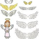 Angel,Wing,Artificial Wing,Cartoon,Cherub,Cute,Feather,Child,Fairy Tale,Little Girls,Spirituality,Animal,Design,Christianity,Religion,Fantasy,Afterlife