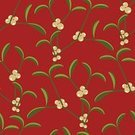 Mistletoe,Pattern,Vector,Seamless,Floral Pattern,Red,Branch,Wallpaper Pattern,Repetition,Vector Backgrounds,Vector Florals,Illustrations And Vector Art,Leaf,Backgrounds,Green Color,Ilustration
