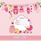 Child,Celebration,Childhood,Computer Graphics,Background,Sign,Cute,Scrapbook,Ornate,Template,Congratulating,Diaper,Toy,Illustration,Postcard,Greeting,Birthday,Symbol,Inviting,Invitation,Computer Graphic,Hanging,Decoration,Stork,Bed,Backgrounds,Baby Bib,Decor,Vector,Clothing,Pink Color
