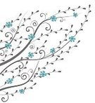 Abstract,Elegance,Growth,Romance,No People,Computer Graphics,Plant,Ornate,Petal,Summer,Illustration,Nature,Shape,Leaf,Image,Symbol,Inviting,Outline,Invitation,Backdrop,Computer Graphic,Decoration,Botany,Season,Plant Stem,Branch,Backgrounds,Curve,Decor,Vector,Blue,Pattern