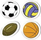 Rugby Ball,Ball,Basketball,Volleyball,Lace - Textile,Sport,Soccer Ball,Football,Sphere,Vector,No People,Isolated,Equipment,Baseballs,Group of Objects,Symbol,Sports And Fitness,Brown,Leather,Objects with Clipping Paths,Ilustration,Play,Recreational Pursuit,Isolated Objects,Playing,Circle,Computer Icon,Set,Isolated On White,Image,Painted Image,Sports Symbols/Metaphors,Leisure Games