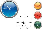 Watch,Clock,Clock Face,Symbol,Time,Circle,Glass - Material,Alarm Clock,Office Interior,Orange Color,Accuracy,Single Object,Deadline,Green Color,Timer,Blue,Number,Dial,Backgrounds,Shiny,Vector,Clockworks,Yellow,Minute Hand,Ilustration,Red,Instrument of Time,Equipment,Measuring,Machine Part,Isolated Objects,Objects/Equipment,Illustrations And Vector Art,Home Interior,Second Hand,Isolated
