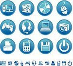 Headset,Video Game,Symbol,standby,Computer Icon,Circuit Board,Telephone,Icon Set,Camera - Photographic Equipment,Computer,Set,Laptop,Mobile Phone,Blue,Sign,Circle,Push Button,Joystick,CD,Equipment,Vector,Headphones,Computer Mouse,Computer Printer,Isolated,Interface Icons,Ilustration,Gamepad,Floppy Disk,Vector Icons,Technology,Computers,Illustrations And Vector Art,Game Pad,Clip Art