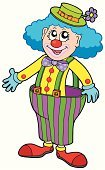 Clown,Circus,Cartoon,Human Face,Hat,Vector,Art,Shoe,Happiness,Performance,Pants,Drawing - Art Product,Men,Catwalk - Stage,Humor,Laughing,Ilustration,Stage Make-up,Button,Entertainment,Make-up,Fun,Party - Social Event,One Person,Art Product,Costume,Event,Ribbon,Wig,People,Concepts,Cap,Smiling,Human Hair,Celebration,Illustrations And Vector Art,Feelings And Emotions,People,Concepts And Ideas,Isolated,Stage Costume