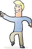 Child,Adult,Boys,Men,Doodle,Cheerful,Illustration,Cultures,Clip Art,Drawing - Activity,Vector,Dancing,Smiling