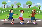 Child,60013,Friendship,Togetherness,Motion,Childhood,Girls,Females,Boys,Males,Group Of People,Recreational Pursuit,Outdoors,Leisure Activity,Exercising,Healthy Lifestyle,Activity,Cartoon,Cheerful,Roller Skating,Illustration,People,Sport,Happiness,In A Row,Clip Art,Wellbeing,Skating,Modern,Lifestyles,Vector,Inline Skating,Drawing - Art Product,Inline Skate,Skate - Sports Footwear,Smiling