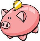 Piggy Bank,Savings,Saving up for a Rainy Day,Cartoon,Coin Bank,Business Symbols/Metaphors,Consumerism,Objects/Equipment,Household Objects/Equipment,Home Finances,Vector,Clip Art,Business,Concepts And Ideas