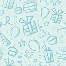 Birthday,Backgrounds,Baby,Party - Social Event,Pattern,Seamless,Little Boys,Gift,Cake,Blue,Cupcake,Baby Shower,Vector,Star - Space,Repetition,Ilustration,Ribbon,Pastel Colored,Streamer,Parties,Vector Backgrounds,Holidays And Celebrations,Illustrations And Vector Art,Birthdays