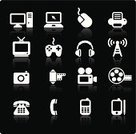 Symbol,Telephone,Television Set,PC,Computer Icon,Icon Set,Mobile Phone,Photography,Computer Mouse,Computer,Laptop,Internet,Set,Technology,Electrical Equipment,Sparse,Computer Part,Radio,Telephone Receiver,Communication,Video Game,Television Camera,Printing Out,Control,Computer Printer,Home Video Camera,Vector,Electronics Industry,Headphones,Television Aerial,Touch Screen,Black And White,Computer Monitor,Digitally Generated Image,Wave Pattern,Personal Data Assistant,Antenna - Aerial,Handheld Video Game,Palmtop,Camera Film,Electronic Organizer,Reflection,Ilustration,Modern,Part Of,Photography Themes,Global Communications,Technology,Communications Technology,Concepts And Ideas,Brand Name Games Console,Design Element