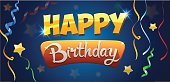 Computer Graphics,Holiday - Event,Ornate,Template,Surprise,Congratulating,Illustration,Birthday,Bright,Happiness,Computer Graphic,Decoration,Vector,Bright,Party - Social Event,Multi Colored,Greeting