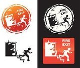 Emergency Exit,Rubber Stamp,Fire Escape,Fire Exit Sign,Urgency,Dirty,Running,Leaving,Grunge,Escape,Distressed,Symbol,Vector,Old,Weathered,Computer Icon,Actions,Communication,Vector Icons,Illustrations And Vector Art,Textured Effect,Scratched,Directional Sign,Warning Sign,Concepts And Ideas