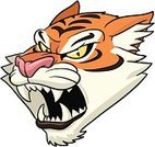 Tiger,Mascot,Cartoon,Roaring,Anger,Wild Animals,Animals In The Wild,Animals And Pets