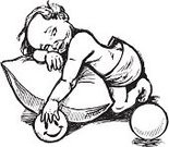 Pillow,Ilustration,Baby,Child,Resting,Drawing - Art Product,Ball,Napping,Black And White,hand drawn,Sleeping,Pen And Ink,Vector,15-18 Months