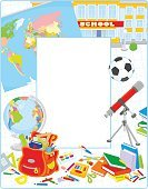 school materials,frame border,School Background,Classbook,Vector Frame,School Accessories,268332,Primary Grades,School Objects,Frame,Copy Space,No People,Telescope,Textbook,Soccer,Background,Back to School,Astronomy Telescope,Book,Globe - Navigational Equipment,Cartoon,Collection,Elementary School,Pencil,Illustration,7th October 1571,Map,American Football - Ball,Education,Soccer Ball,Picture Frame,School Supplies,Hand-Held Telescope,Backgrounds,Vector,Backpack,Satchel - Bag