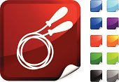 Jump Rope,Exercise Equipment,Rope,Symbol,Computer Icon,Vector,Computer Graphic,Red,Label,Purple,Ilustration,White Background,Shiny,Design,Digitally Generated Image,Black Color,Blue,Green Color