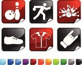 Ten Pin Bowling,Bowling Pin,Symbol,Computer Icon,Sport,Icon Set,Bowling Ball,Green Color,Vector,Fun,Bowling Shoe,Stick Figure,Bowling Strike,Label,Black Color,Leisure Games,Shiny,Square,Red,Square Shape,Throwing,Ilustration,Bowling Shirt,Success,Blue,Digitally Generated Image,Page Curl,Orange Color,Design,Sports Uniform,Folded,Computer Graphic,Achievement,Bowling League