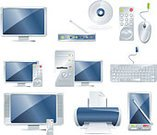 Printer,Symbol,Computer Keyboard,Television Set,Computer,Electrical Equipment,Computer Icon,Entertainment Center,Wireless Technology,PC,Equipment,Video,Computer Monitor,Telephone,Mobile Phone,The Media,CD,Electricity,Remote Control,Smart Phone,Set,Isolated,Modem,Electronic Organizer,Modern,Vector,Computer Mouse,Isolated On White,Disk Compact,Design Element