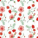 Flower,Vibrant Color,Springtime,Leaf,Botanical Print,Single Flower,Elegance,seamless pattern,Luxury,Decor,Beautiful,Textile,Beauty In Nature,Bouquet,Old-fashioned,Summer,Art,Red,Seamless,Abstract,Wallpaper Pattern,Repetition,Nature,Romance,Pattern,Retro Styled,Illustration,Blossom,Plant,Ornate