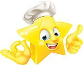 Cartoon,Chef,Human Face,Fun,Vector,Humor,Thumbs Up,Mascot,Hat,Shape,Three Dimensional,Smiling,One Person,OK,Drawing - Art Product,Success,Baker - Occupation,Gold,Men,Star Shape,White Background,Food,Education,Anthropomorphic Face,Yellow,Happiness,Cute,Symbol,Perfection,Characters,Cap,Computer Icon,Smiley Face,Human Eye,People,Illustration,Winning,Three-dimensional Shape,Gold Colored,Isolated,Human Hand