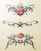 Tattoo,Indigenous Culture,Tribal Art,Art,Design,Frame,Pattern,Computer Graphic,Vector,Style,Swirl,Design Element,Black Color,Ornate,Old-fashioned,Red,Shape,Ilustration,Curve,Decoration,Abstract,Clip Art,Elegance,Concepts,Silhouette,Creativity,Shadow,Decor,Illustrations And Vector Art,Vector Ornaments,Curled Up