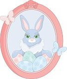 Animal,Eggs,Picture Frame,Paintings,Decoration,Easter,Baby Rabbit,Young Animal,Springtime,Humor,Cute,Rabbit - Animal,Easter Egg,Fun,Animated Cartoon,Smiling,Vector,Pink Color,Symbol,Season,Happiness,Cheerful,Holiday,Party - Social Event,Easter Bunny