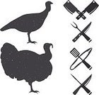 Cartoon,Black Color,Design,Design Element,Computer Graphic,Bird,Badge,Vertebrate,Turkey - Bird,template,Silhouette,Animal,Computer Icon,Store,Symbol,Vector,White,Restaurant,Nature,Isolated,Label,Males,Monochrome,Holiday