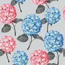 Vector,Hydrangea,Seamless,Backgrounds,Illustration,Flower,Springtime,Nature,Plant,Print,Beautiful,Blossom,Design,Pattern,Old-fashioned,Decor,Elegance,Multi Colored,Bouquet,Retro Styled,Textile,Beauty In Nature,Wallpaper Pattern,Leaf,Summer,Flowerbed,Painted Image