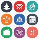 Humor,Year,Winter,Planet - Space,Gift,Celebration,Paying,Wireless Technology,Tree,Christmas,Symbol,Vector,Calendar,Camera - Photographic Equipment,upload,Application Software,Badge,Label,Token,Shape,Sign