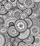 Henna Tattoo,Single Flower,Floral Pattern,Seamless,Pattern,Summer,Doodle,Abstract