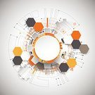 Design,Science,Futuristic,Illustration,Technology,Modern,Banner,Backgrounds,Development,Industry,Innovation,Creativity,Communication,Digitally Generated Image,Computer Graphic,Engineering,Connection,Orange Background,Research,Gear,Backdrop,Wallpaper Pattern,Internet,Circle,Cyberspace,Vector,Business,Abstract
