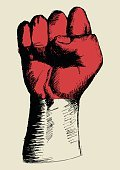 Strength,Fist,Flag,Human Hand,Monaco,Vitality,Insignia,Protest,Freedom,Propaganda,Patriotism,Motivation,Retro Styled,nation,Power,Pride,Indonesia,Sign,Symbol,Sketch,Grunge,Illustration,Vector,Computer Graphic