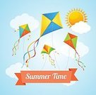 Vector,Illustration,Wind,Flying,Nature,Air,Backgrounds,Cloud - Sky,Billboard Posting,Joy,Play,Wallpaper,Fun,Vacations,Sun,Wallpaper Pattern,Day,Freedom,Computer Icon,Postcard,Travel,Greeting Card,Travel Destinations,Blue,Happiness,Sky,Kite - Toy,Summer