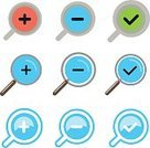 Discovery,Computer Icon,Symbol,Flat,Vector,Blue,Infographic,Zoom,Collection
