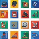Business,Computer Icon,Vector,Connection,Steel,Rubber,Computer,Spark,Natural Gas,Work Tool,Design,Cylinder,Internet,The Media,Flat,Isolated,Communication,Icon Set,Collection,Electricity,Web Page,Equipment,Shadow,Work Helmet,Welder,Welding,Metal,Gauge,Electrode,Machinery,Wire,Protective Glove,Symbol,Mobile Phone,Illustration,Set,Computer Network,Marketing,Spray,Technology,fireproof