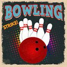 Typescript,Bowling,Bowling Pin,Sport,Label,Rustic,Sign,Flyer