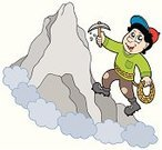 Mountain Climbing,Rock Climbing,Mountain,Climbing,Cartoon,Rock - Object,Hill,Isolated,Adventure,Rope,Mountain Peak,Ilustration,Drawing - Art Product,Men,Sport,Vector,Looking,Equipment,Holding,On Top Of,Action,Cloud - Sky,Nature,One Person,Happiness,Holiday,Smiling,Human Arm,Art,Illustrations And Vector Art,People,Strength,Cap,Sports And Fitness,Design,Lifestyles,Art Product,Outdoors,Vacations,Activity