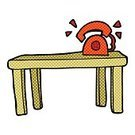 Telephone,Cultures,Desk,Group of Objects,Business,Clip Art,Bizarre,freehand,Illustration,Drawing - Activity,Vector,Cute,Doodle