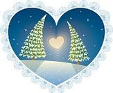 Greeting Card,Valentine's Day - Holiday,Landscape,Valentine Card,Love,Romance,I Love You,Loving,Nature,February,Design Element,Ideas,Growth,Design,Illustration,Planetary Moon,Sky,Pattern,Christmas,Cultivated,Shape,Tree,Fir Tree,Heart Shape,Backgrounds,Flirting,Couple - Relationship,Cartoon,Landscaped,Dating,Part Of,Concepts,Togetherness,Clip Art,Vector,Moon,Night,Lace - Textile,Winter