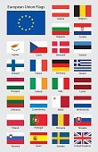 European Union Flag,European Union,Country - Geographic Area,Europe,Vector,Flag,Politics,Germany,Czech Republic,Poland,Set,France,Sign,Button,Spain,Netherlands,kingdom,Patriotism,Ethnicity,Collection,Austria,Symbol,republic,Sweden,Unity,UK,nation,National Landmark,Belgium,Italy