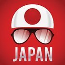 Ethnicity,Multi Colored,Computer Graphic,Flag,Sunglasses,Clothing,Symbol,Japan