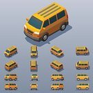 Three Dimensional,Lifestyles,Transportation,Van - Vehicle,Shape,Exercising,Computer Icon,Illustration,City Life,No People,Vector,Mini Van,Infographic,Isometric Projection,62221,268360,Low-Poly-Modelling